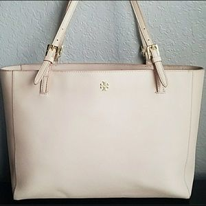 Tory Burch York Leather Blush Buckle Tote Bag